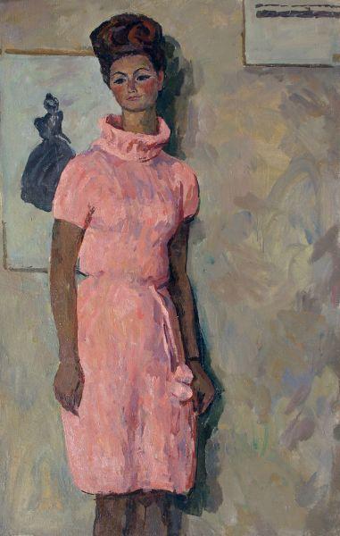 Девушка в розовом.