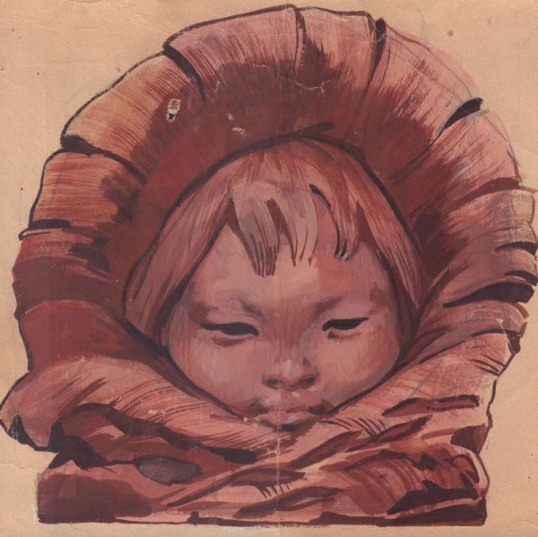 Малыш в капюшоне.