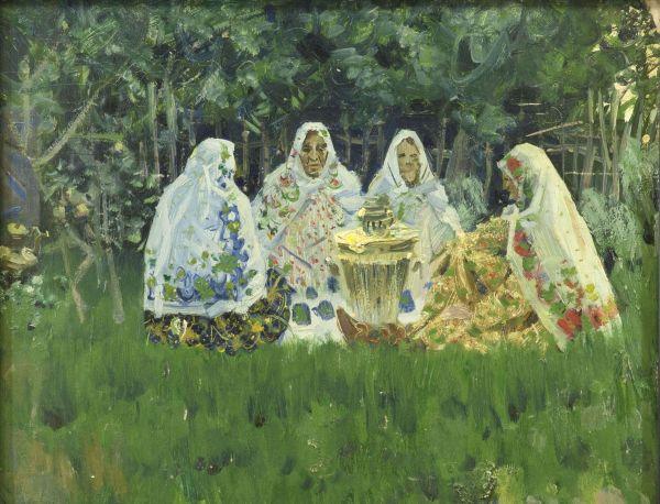В татарской деревне.