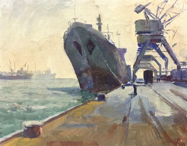 В порту Новороссийска.