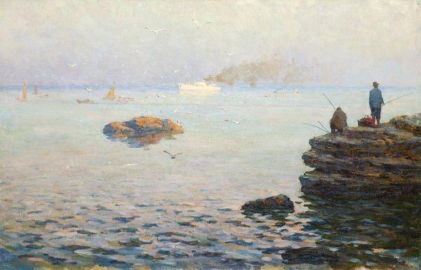 Рыбаки. В Крыму.