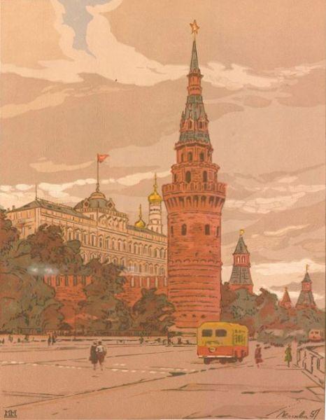 Московский Кремль. Водовозная башня.