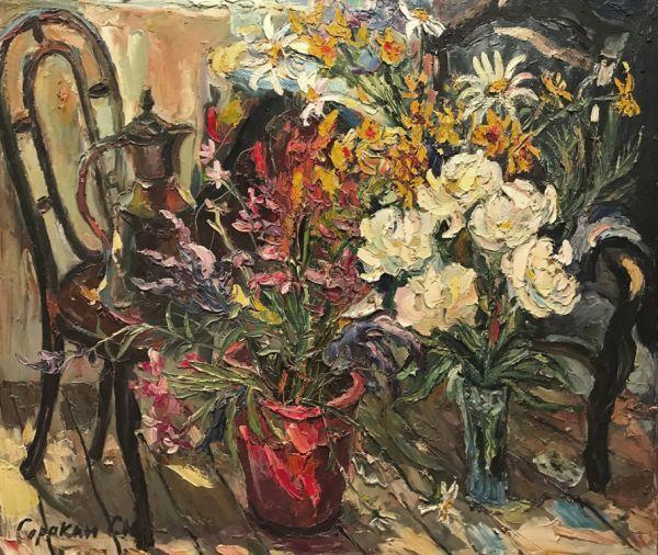 Полевые цветы и пионы для Тани.