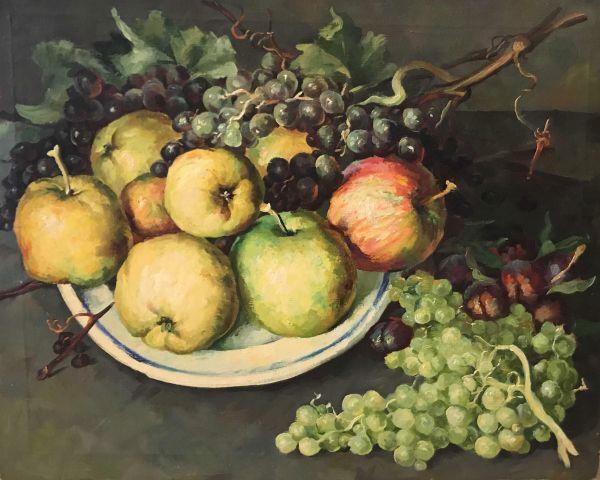 Натюрморт с яблоками.
