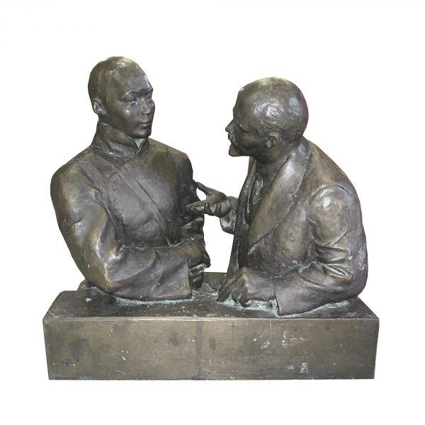Встреча В. И. Ленина и Сухэ-Батора.