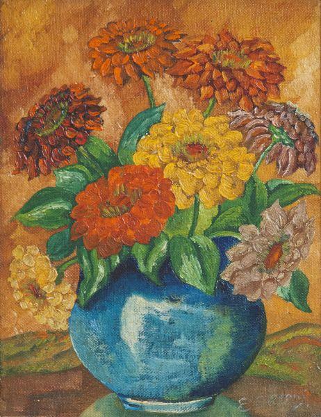 Натюрморт с хризантемами.