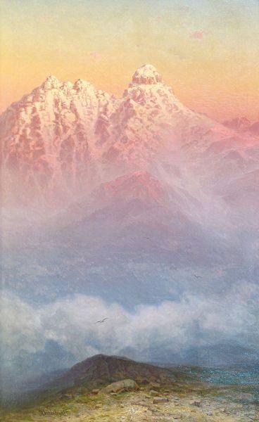 Розовые горы.