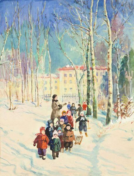 Детский сад. Иллюстрация к книге  Е. Серовой