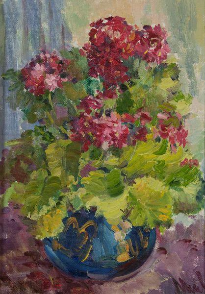 Букет цветов в вазе.