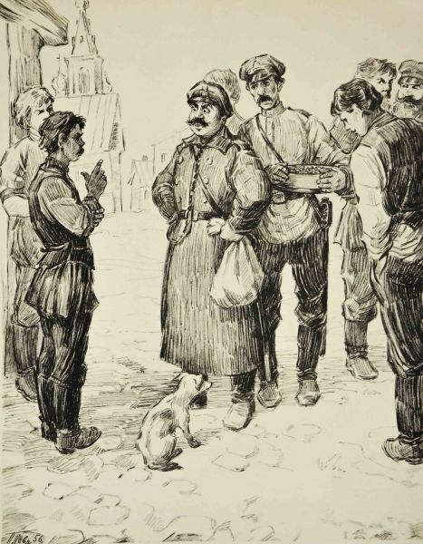 Иллюстрация к рассказу А.П.Чехова «Хамелеон».