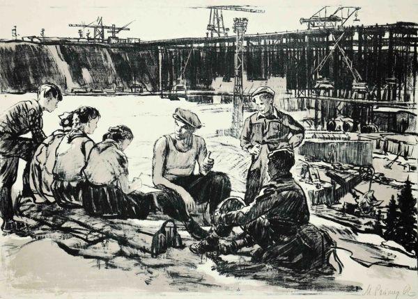 Экскурсия пионеров на Братскую ГЭС.