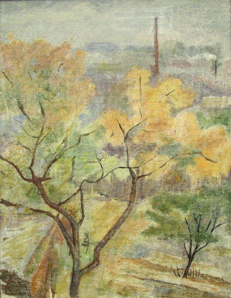 Осенний пейзаж с трубой.