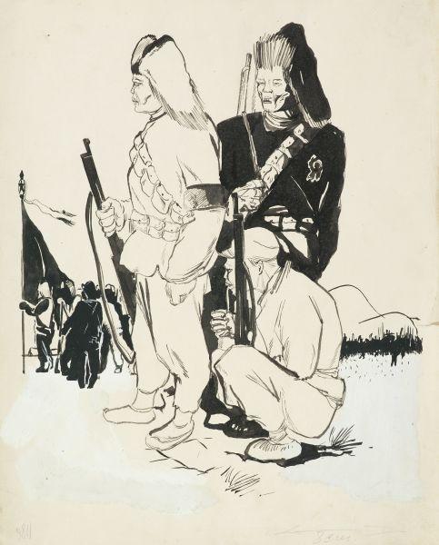 Китайские повстанцы. Иллюстрация к книге «О китайской армии».