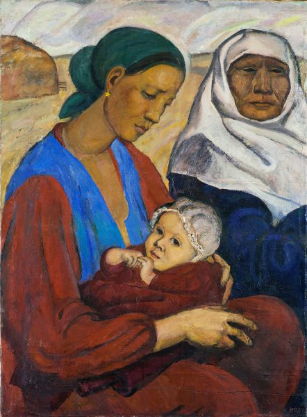 Мать с ребенком.