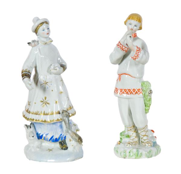 Скульптурная пара «Лель» и «Снегурочка».