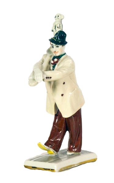 Клоун Вяткин с собачкой Манюней.
