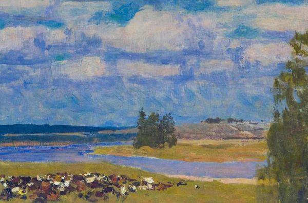 Пейзаж со стадом.