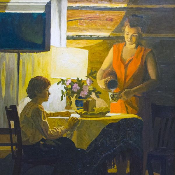 Ужин в Мицееве.