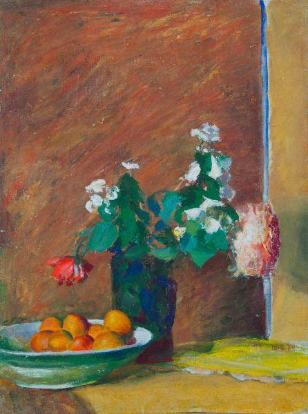 Абрикосы и цветы.