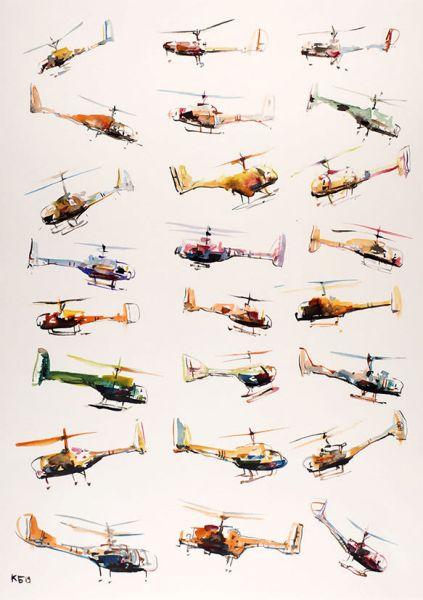 Вертолёты.