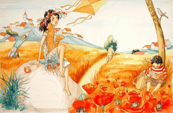 Иллюстрация к книге Джанни Родари «Новогодняя книга».