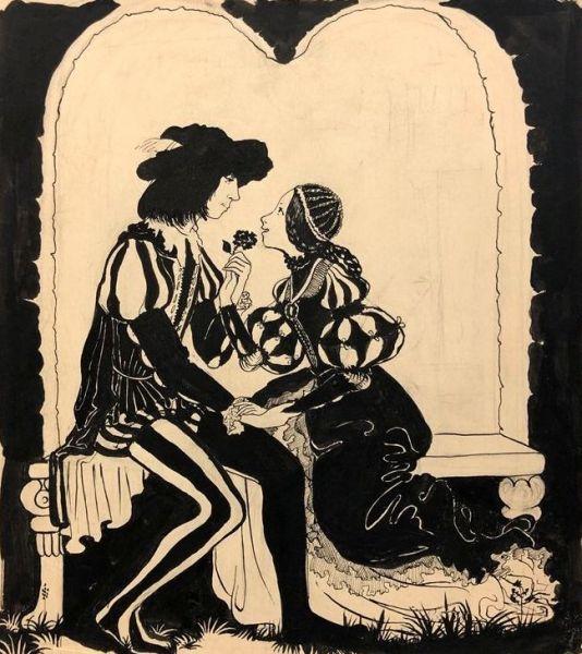 Иллюстрация «Ромео и Джульетта».
