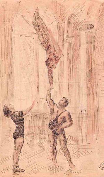 Гимнасты.