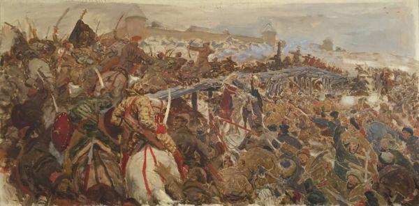 Бой болотниковцев с войсками Шуйского.