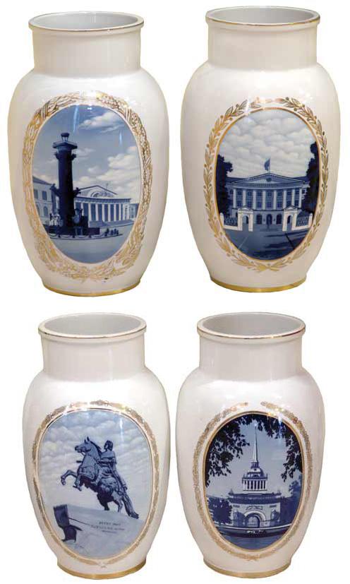 Четыре декоративные вазы