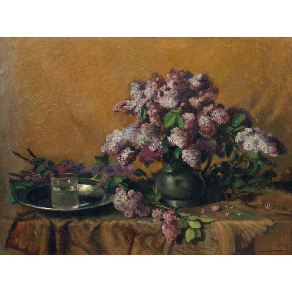 Still life with lilacs.