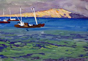 Fishing boats. Caspian.