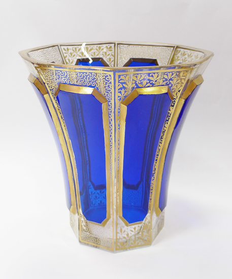 Vase made of Bohemian glass.