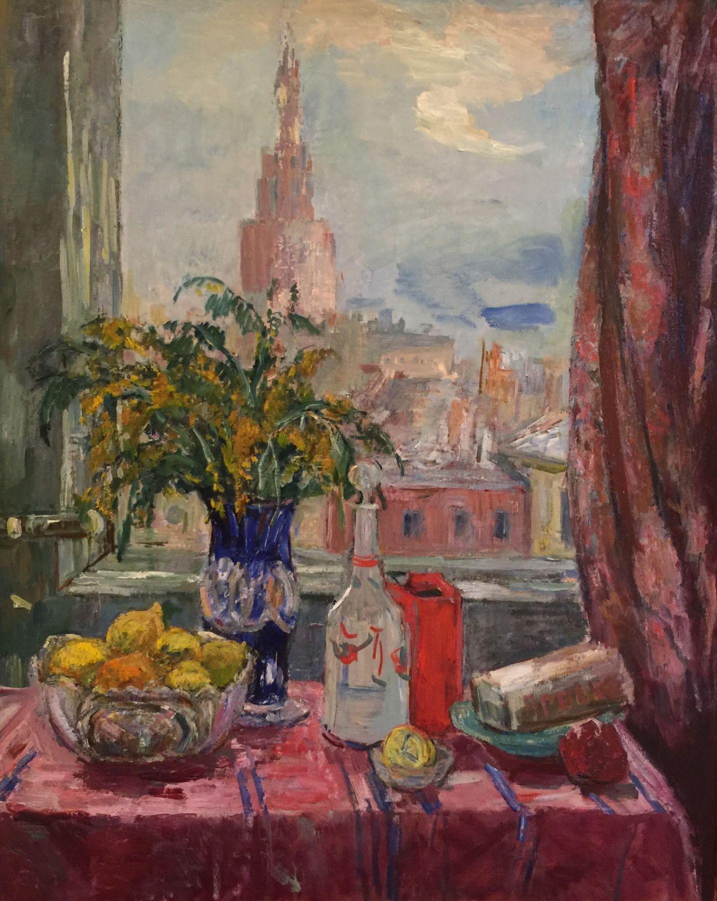 A window. Menshikov tower view.