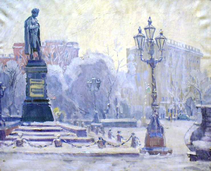 Monument to Pushkin A.S. in Moscow.