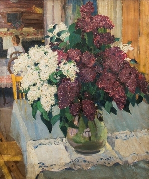 A bouquet of lilacs.
