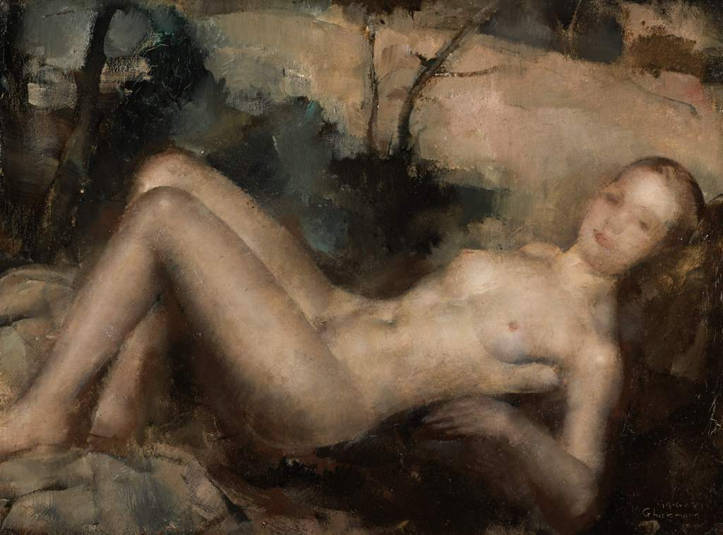 RECLINING NUDE.