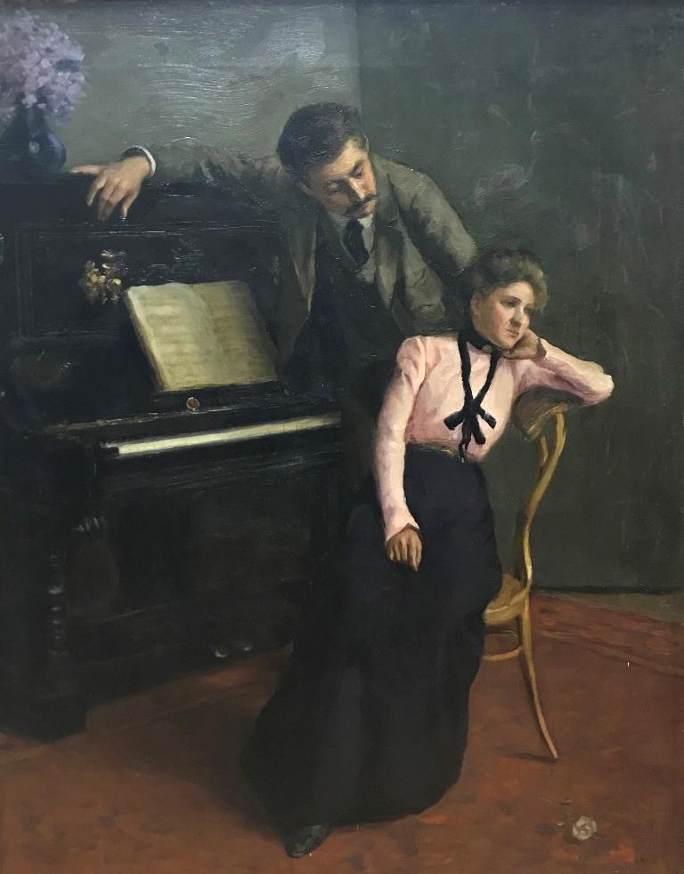 Двое у рояля.