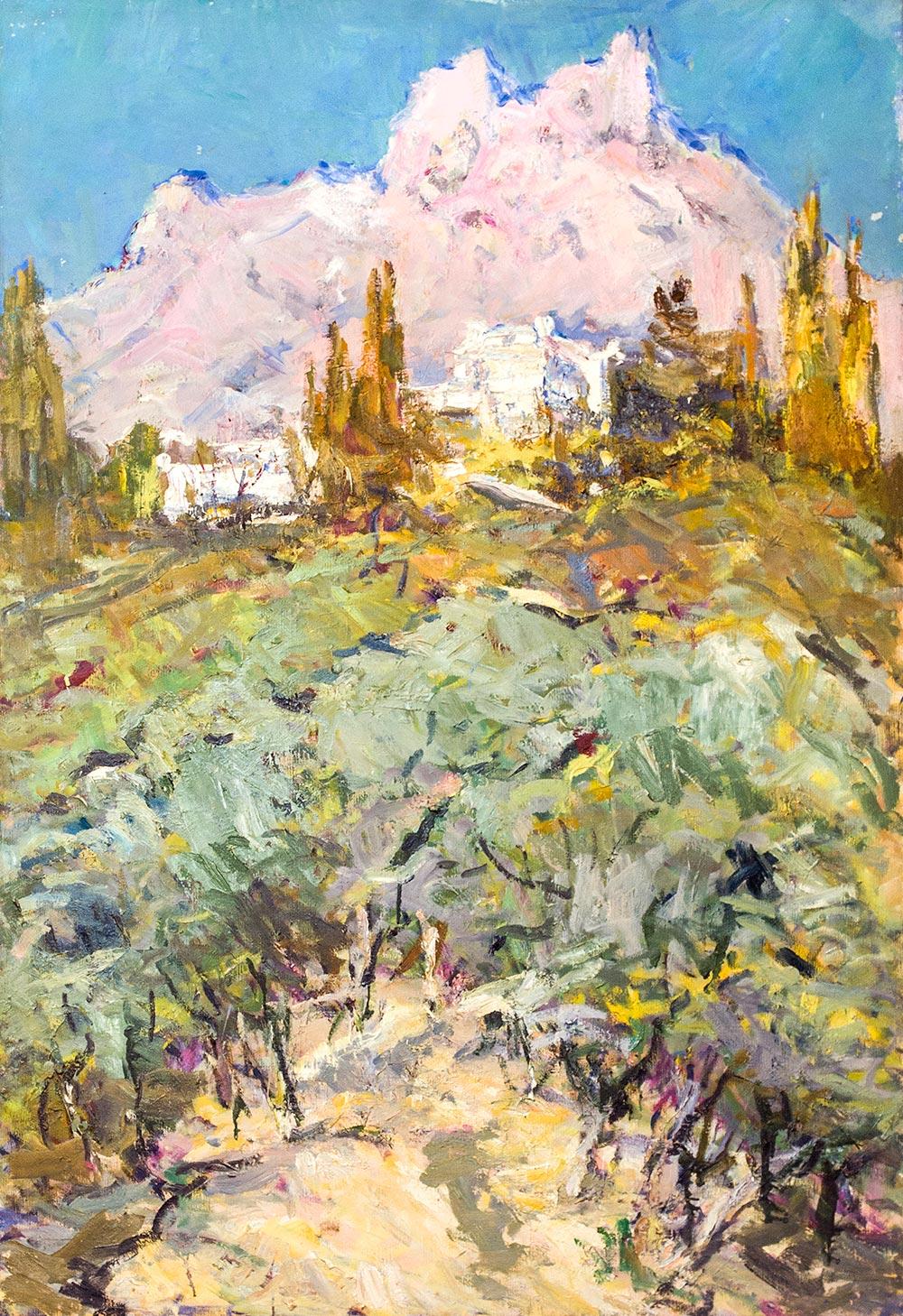 Крым. Розовые горы.