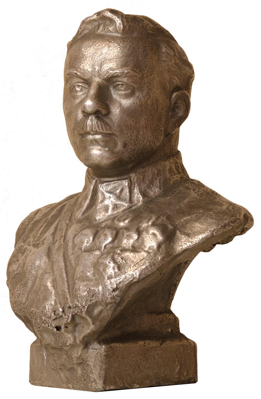 Bust of K.E. Voroshilov.