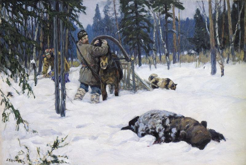 картина Медведя завалил.