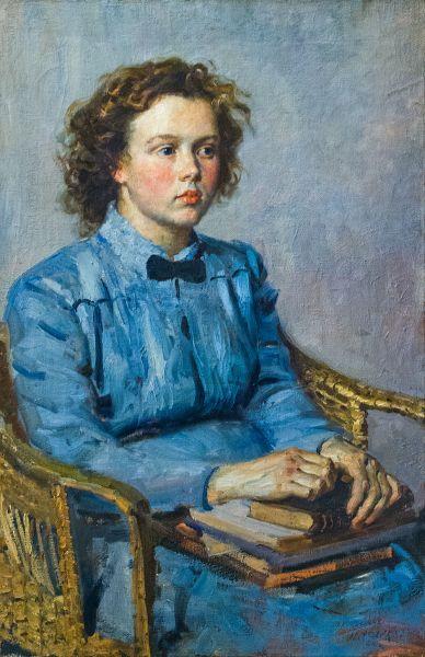 Портрет девушки в голубом.