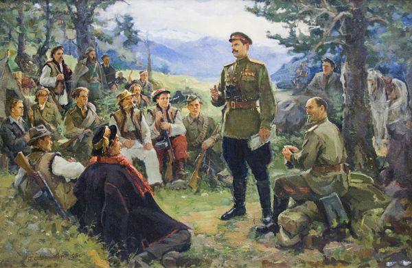 Партизаны Ковпака в Карпатах.