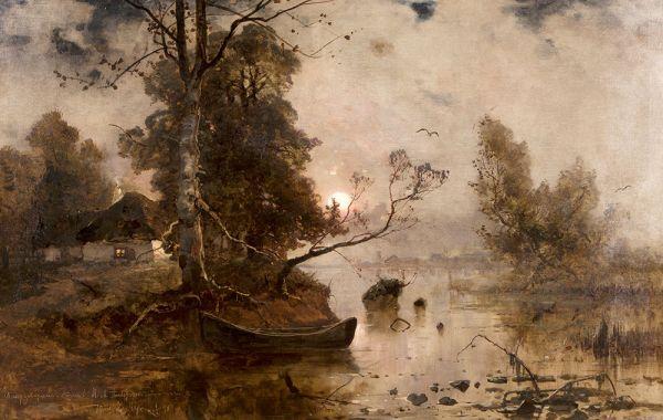 Закат на болотах.