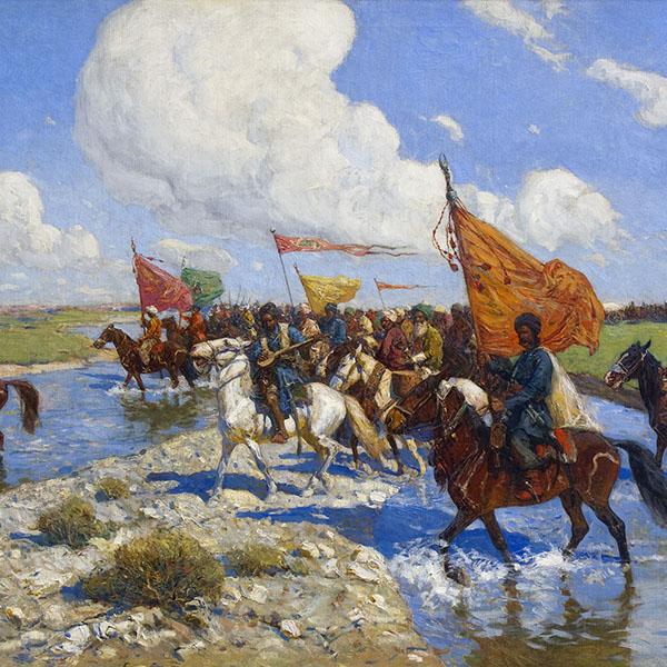 Восточное войско в походе.