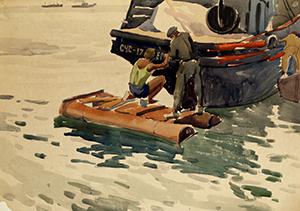 Подкраска судна, Каспий.