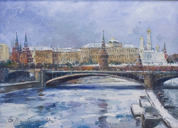 Вид на Кремль через Большой Каменный мост.