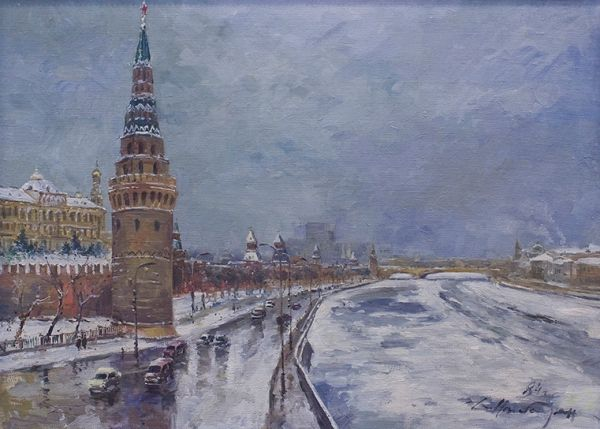 Вид на Кремлевскую набережную с Большого Каменного моста.