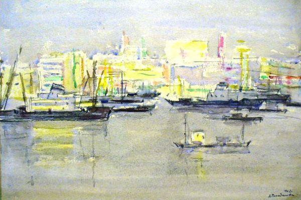 В порту Йокогама.