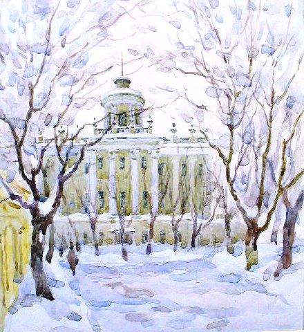 Зима. Дом Пашкова.