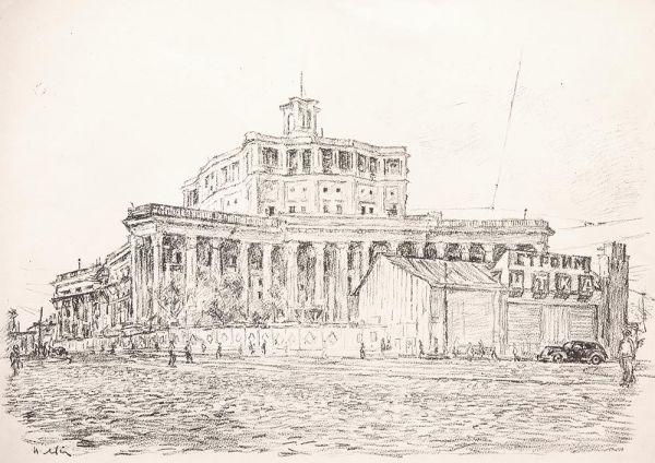 Строительство Театра Российской Армии.